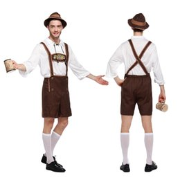 Wholesale Movies German - Adult Halloween Costumes For Men Hot German Beer mascot Costume kid Oktoberfest Beer Festival Costume Mens carnival