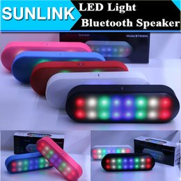 Wholesale Pill Sound Box - pill speaker box player music gift New Mini Portable Wireless Bluetooth Speaker With Pulse LED Liht Flash XL Bulit-in Mic Handsfree