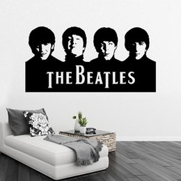 Wholesale Beatles Stickers - Retail Sample Beatles Wall Art Decals Vinyl Wall Stickers Home Decor Wall Decor Free Ship 29X57CM