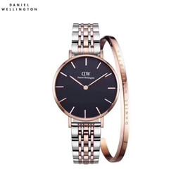 Wholesale ladies waterproof watch blue - New Daniel watches 32mm Women watches Luxury Brand Quartz Watch waterproof Ladies dress watch Female Clock Relogio Montre Femme Bracelet