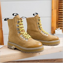 Wholesale Thick Black Female Models - 2017 muffin leather boots, female boots Martin male and female models shoes, and casual boots, thick soled boots female in tube