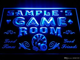 Wholesale Room Neon - DZ013-b Name Personalized Game Room Man Cave Beer Bar Neon Light Sign
