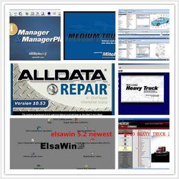 Wholesale Alldata For Heavy Trucks - 47 in 1 2017 latest Alldata 10.53 575GB+2015 Mitchell On Demand 161GB++ATSG+vivid workshop+ELSAwin+ heavy truck with a 1tb hdd Free Shipping