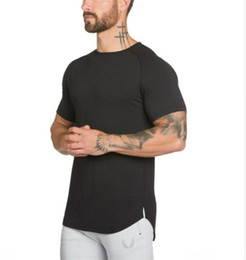 Wholesale T Shirt Muscle Print - Brand gyms clothing fitness t shirt men fashion extend hip hop summer short sleeve t-shirt cotton bodybuilding muscle engineers