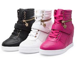 Wholesale Two Way Zippers - Women Durable Girl High Increased Flats Two Ways Dress Zipper Soft Shoes Walking Wearable Fashion Shoe