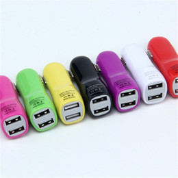 Wholesale Cheap Colorful Iphone Chargers - Cheap Price Top Colorful Dual USB 2 ports 2.1A Duckbill Type Car Charger For Any Mobile Phone Cellphone Power Device