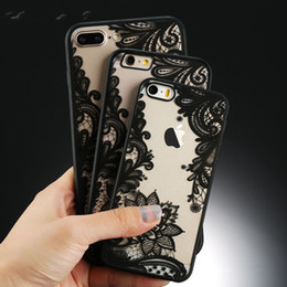 Wholesale Iphone Case Luxury Lace - Luxury Sexy Retro Floral Phone Case For iPhone 7 6 6s 5 5s SE Plus Lace Flower Hard PC+TPU Cases Back Cover Cases For iPhone7Plus Free DHL