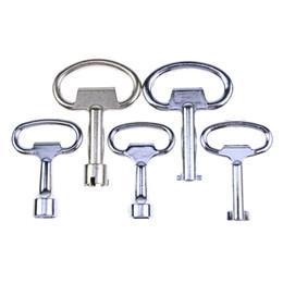 Llaves 5pcs para la forma no estándar usada herramientas de cerrajería Llave de la caja del medidor BK142 desde fabricantes