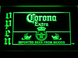 Wholesale Bar Signs Corona - 035 Corona Beer OPEN Bar LED Neon Light Sign Cheap lighted sign letters High Quality light bulb adapter plug