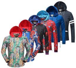 Wholesale Hoodie Pattern - Luxury Fashion Brand Long Sleeve print jacket Men Casual windbreaker hooded jacket Tiger printing Medusa silk jacket hoodies