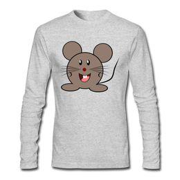 Wholesale Dropship Discount - Discounted O Neck Shirt Men Long Sleeve T shirt Funny Mouse Dropship T-shirt Cheap High Quality