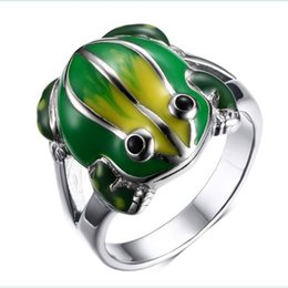 Wholesale Stainless Steel Pandora - 2016 NEWEST Wholesale Silver Frog cute animal Charm enamel high polished For Pandora Bracelets Charms DIY European Jewelry