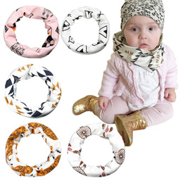 Wholesale Cotton Circle Scarf - PrettyBaby baby Scarves 7 models ring unisex fashion Ring one circle 45cm cotton cartoon printed style free shipping