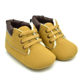 Wholesale Fleece Baby Booties - Warm Baby shoes Toddler Boys Fleece Ankle Boot Booties Fleece Crib Shoes Anti-slip Newborn Kid Boy Winter Warm Plush baby Boots