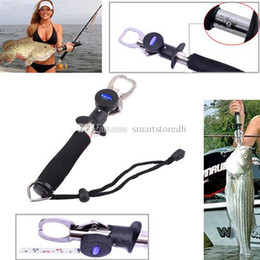 Wholesale Fishing Trigger - 3 in 1 Fish Lip Gripper Trigger Grip Spring Weight Scale Inches Ruler Black F00364 SMR