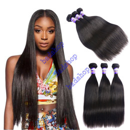 Wholesale Light Brown Remy Hair Weave - Grade 8A Badshop Brazilian Straight Hair Unprocessed Brazilian Virgin Human Hair Weave Bundles 100% Brazilian Vrgin Hair Straight