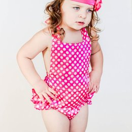 Wholesale Tutu Design For Baby - 2016 new design Satin Ruffle Baby Girls Polka dots Bubble Romper Leg Warmers Pink Rose Kids bodysuit For Infant Toddlers DHL free