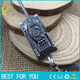 Wholesale Cartoon Games For Girls - 3 Colors 3D World of Tanks Key chain Metal Key Rings For Gift Chaveiro Car Keychain Jewelry Game Key Holder Souvenir new hot