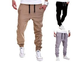 Wholesale Women Khaki Harem Pants - High Street fashion zipper mens joggers pants biker cool sweatpants women and men pants hip hop mens tights street dance pants