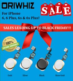 Wholesale Crazy Price - Black Friday Crazy Discount Price Real Picture Home Button with Flex for iPhone 6 6 plu 6s 6S Plus Four Colors Available