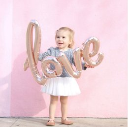 Wholesale Cups Photos - Ligatures LOVE Letter Foil Balloon Anniversary Wedding Valentines Birthday Party Decoration Champagne Cup Photo Booth Props