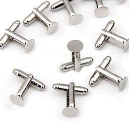 Wholesale Metal Cufflink Tie Set - Free Shipping 8mm 100Pcs Fashion Round Metal Cufflink Backs, 2016 New Fashion Cff link DIY Accessories
