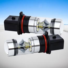 ha condotto le luci per il riflettore dell'automobile Sconti 2X di alta qualità Super Bright P13W SH23W PSX26W Doppio vetro curvo riflettore di superficie LED Auto fendinebbia anteriore auto DRL luce di guida