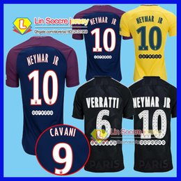Wholesale Black Gold Fans - Thai quality 17 18 Paris home away third black soccer psg fans version football shirts soccer jerseys neymar jr di maria cavani verratt