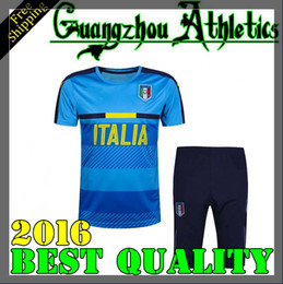 Wholesale Italy Trains - 2016 2017 16 17 Italy Home training suits Italy buffon verratti de rossi pirlo Training Suit