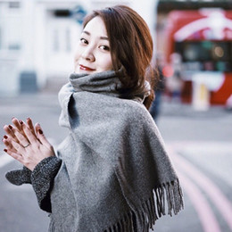 Wholesale Winter Scarfs Fashion Style - Unisex Winter Scarves new style of imitation cashmere color scarf simple style highlight the temperament beautiful keep warm TB15