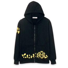Wholesale Trafalgar Law Top - Hot Sale New fashion casual brand One Piece Trafalgar Law Clothing high quality men women outer wear Hoodies 100% cotton Top Tees