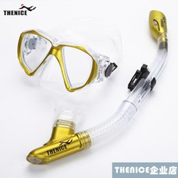 Wholesale Dry Suit Dive - FREE water sports swimming diving suit scuba diving scuba gear diving mask and snorkel snorkeling equipment full-dry snorkeling S022