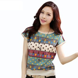 2017 t-shirt en gros pour imprimé animal Vente en gros- Hot Sale T shirt Femme 2016 Summer Unique Print Tops Short Sleeve Fashion T-shirts Femme Plus Size Chemise Tee-shirt en coton Femme promotion t-shirt en gros pour imprimé animal
