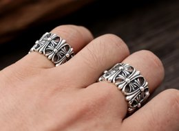 Wholesale Jewelry Design Cross For Man - Brand new 925 sterling silver jewelry vintage style ring for men ch cross designs customized wholesale free shipping.