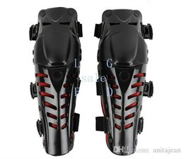Wholesale Motorbike Pads - 2015 Hot Sale 2 Pairs Lot Wholesale Motocross Protector Motorcycle Motorbike Racing Knee Pads Guard Protective Gear Black&Red TK0760