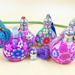 Wholesale Pottery Bottles - 10ml pottery Essential Oil Roller Bottles Glass Roller Balls Aromatherapy Perfumes Lip Balms Glass Roll On Bottle F20171821