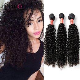 Wholesale Curly Brazilian Unprocessed Human Hair - Brazilian Deep Curly Hair Grade 7A Unprocessed Peruvian Malaysian Indian Cambodian Mongolian Kinky Curly Human Hair Weave Bundles Extensions