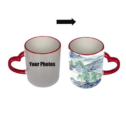 Wholesale Wholesale Custom Designs China - Wholesale- ANGRLY Free Design Multicolor Love Custom Photo Mug 350ML Coffee Cup Beer Milk Mug With Gift Wholesale Cheap Valentine's Day