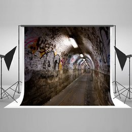 Wholesale Wall Background For Photography - Graffiti Wall Photography Backdrop Brick Wall Photo Background Cotton Seamless Reused Tunnel Style Backdrops for Photographers HJ05275