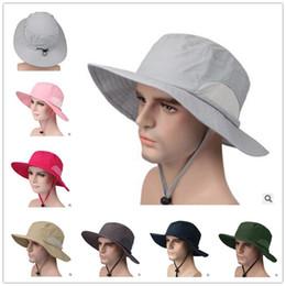mens breite brutalsommerhüte Rabatt breite Krempe Hüte für Frauen Männer Sonnenhut Eimer Hut Angeln Hut im Freien schnell trocknend Cap Womens Herren Erwachsenen Kappe Sommer Caps Großhandel