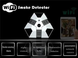 Wholesale Smoke Detectors Hidden Wireless Camera - Newest Wireless Wifi Camera HD Hidden Camera with WiFi P2P Spy Camera Smoke Detector 1080P For Iphone Android Windows IP Camera Spy Camera