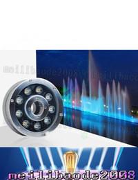 Wholesale 24v 15w - Underwater Fountain Light LED 6W 9W 12W 15W 18W IP68 LED light swimming pool Lamps RGB LED fountain lights 12V 24V 110V 220V LLFA