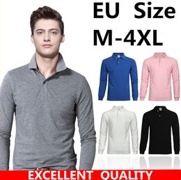 Wholesale Size Small Shirt - 2017 Men Cotton Polo Shirt Brands Casual Fashion Small Horse Embroidery Long Sleeve High Quality polo Turn-down Collar Autumn Polo Hot sell