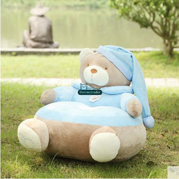 Wholesale giant toys - Dorimytrader 55cm X 55cm Giant Stuffed Soft Plush Cartoon Bear Kids Sofa Toy 2 Colors Nice Baby Gift Free Shipping DY61039