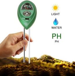 medidor de jardín Rebajas 3 en 1 Digital PH Meter Plants Flor del Agua del Suelo Probador de Sensor de Luz del Agua para el Acuario Interior Garden PH Meter CCA6871 50pcs