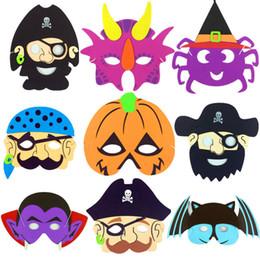 Wholesale Pirate Masquerade Masks - Halloween EVA Cartoon mask ghost festival pumpkin pirate ghost skull cartoon masquerade dress For Kids ne781