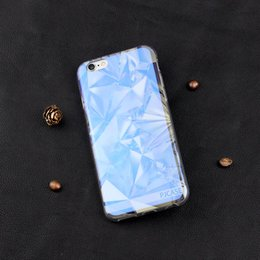 Wholesale Crafts Wholesale For Phone Cases - 200pcs wholesale New Crafts Modern Blue Ray Light Clear Mobile Phone Case For iPhone 7 7S 7Plus Silicone Clear Transparent Cover Case