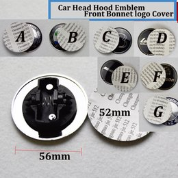 Wholesale Stars Drive - 1pcs Head covers 56mm 52mm stickers Hood car Emblem logo Front Bonnet Badge cover STAR W211 W203 W204 W124 W201 AMG W202 W212 W220 W205 GLA