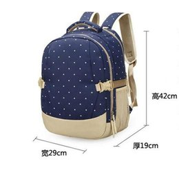 Wholesale Leather Polka Handbag Dots - Mommy Diaper Bags Nappies Maternity Backpacks Brand Fashion Desinger Handbags Outdoor Mother Backpack Nursing Bag Bagpack Mochila Feminina