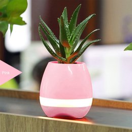 Wholesale Mobile Phone Smart Card Reader - New hot selling Portable speaker Smart Touch Piano Music Flower Potted Bluetooth Speakers Colorful Night Light Music Plant Lamp